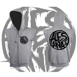 Death Circle Grey Sleeveless Hoodie