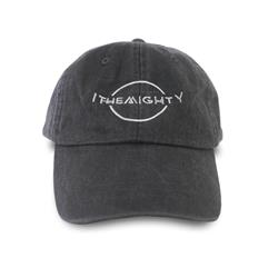 Logo Pigment Dye Grey Dad Hat