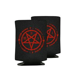 Backmask Black Koozie