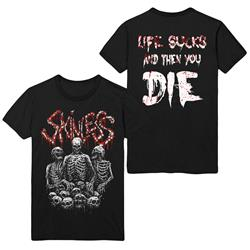 Life Sucks Skeletons Black