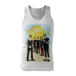 Cartoon Beach White Girl's Tank Top