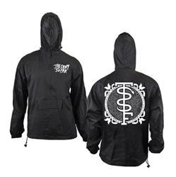 Snake Black Hooded Windbreaker