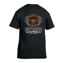 City Rocks NY Logo Black Dry-Fit