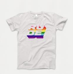 Rainbow White Tee + Digital