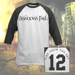 Fire From The Sky Black/White Baseball Shirt