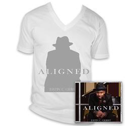 Justin C. Gilbert - Aligned CD + V-Neck Tshirt