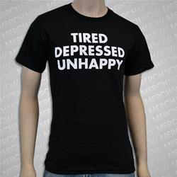 Tired. Depressed. Unhappy Black