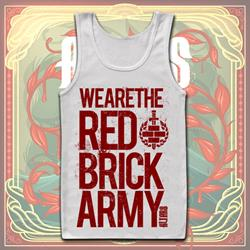 Red Brick Army White $6 Sale *Small Only*