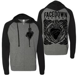 Burning Heart Lightweight Zip-Up