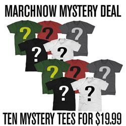 TEN MYSTERY TEES  FOR $19.99