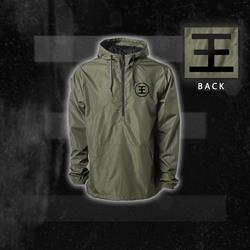 Logo Army Green Windbreaker