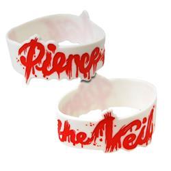 Splatter Logo White Wristband