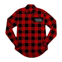 Plaid Logo Red W/ Black