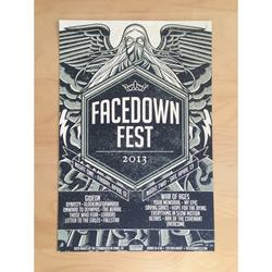 Facedown Fest 2013 Screen Printed Poster