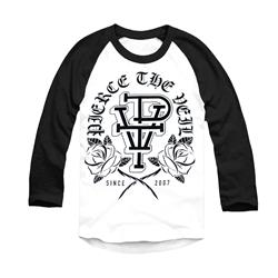 Rose  Raglan White W/ Black