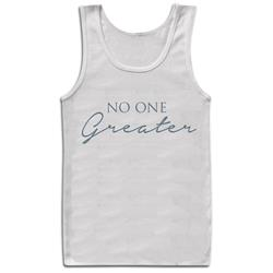No One Greater Script White Tank Top
