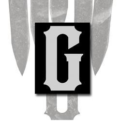 G Logo Black Sticker