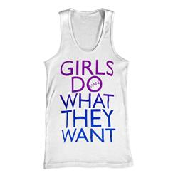 Girls Do What They Want White Tank Top