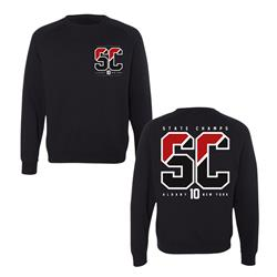 Strike Out Black Crewneck
