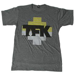 Yellow & White Stripes Logo Dark Heather