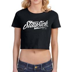 New Script Black Girl's Crop Top T-Shirt