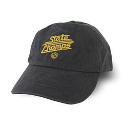 Gold Logo Mineral Black Dad Hat