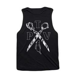 Scissor Black Muscle Tank Top