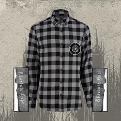 Flannel W/ Patch Black & Grey