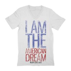 I Am American Dream V-Neck White