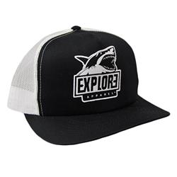 Shark Black/White Hat