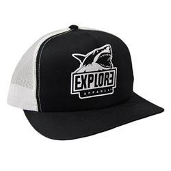 Shark Black/White Hat