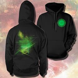 Green Emblem Black Hooded Pullover
