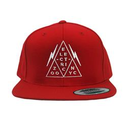 Triangle Logo Red Snapback