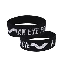 An Eye For An Eye Black Wristband
