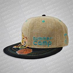 Summer Camp 2013 Tan/Black Grass Roots Hat  8 1/4