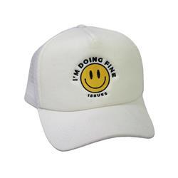 Smiley White Snapback