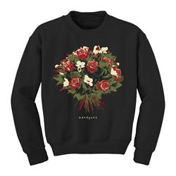 Bouquet Black Crewneck
