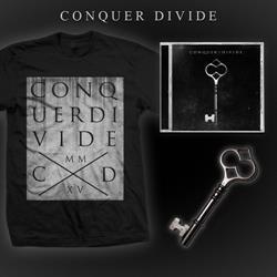 Conquer Divide CD + T-Shirt + Skeleton Key