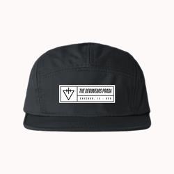 Triangle Black 5 Panel Hat