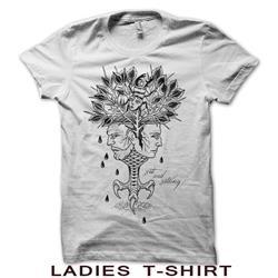 Aging Reflection Ladies White T-Shirt