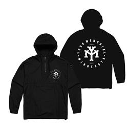 YM Logo Black Windbreaker