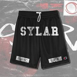 Logo Black Mesh Shorts
