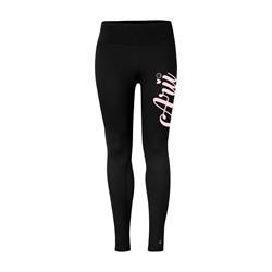 Pink Logo Black Leggings