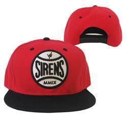 Sirens Baseball Logo Red/ Black Snap Back