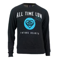 Future Hearts Charcoal Heather Crewneck