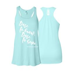 Be Brave Womens Racerback Teal