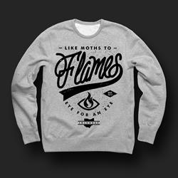 Script Heather Grey Crewneck