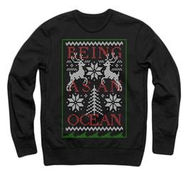 Holiday (Deer) Black Crewneck