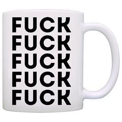 Fuck Fuck Fuck Black on White Coffee Mug
