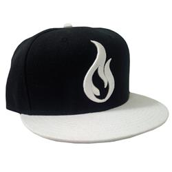 Flame Black/White Snapback